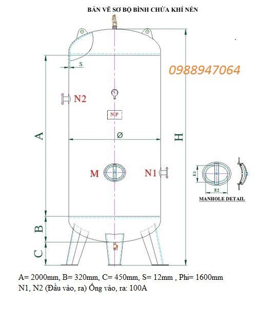 Bình chứa khí 5000L